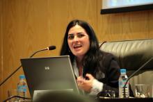 Imagen de la ponencia de Yolanda Rueda