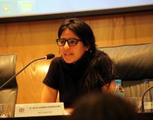 Imagen de la ponencia de Neyda Romero Guasamucare
