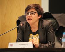 Imagen de la ponencia de Irene Milleiro