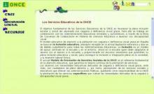 Página principal de los servicios educativos de la ONCE
