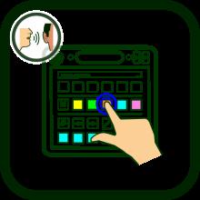 Touchscreen communicator's icon