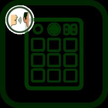 Portable communicator's icon
