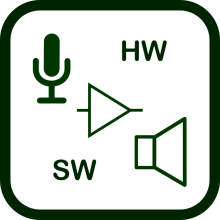 Assistive products for voice production icon