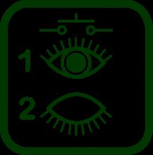 Icono de pulsador de parpadeo