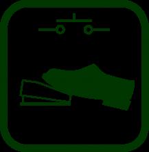 Icono de pulsador de pedal