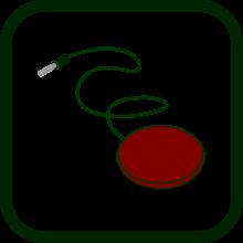Icono de pulsador de sobremesa