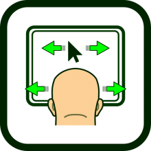 Head-operated mouse icon