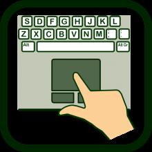 Icono de ratón de dedo