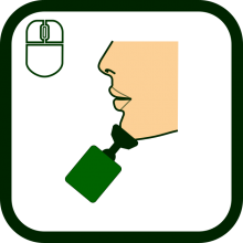Chin-operated mouse icon