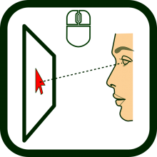 Eye-operated mouse icon