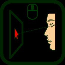Icono de ratón de mirada