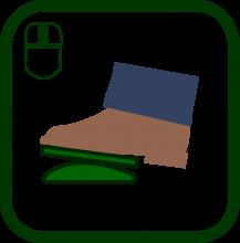 Icono de ratón de pie