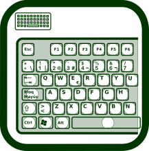 Keyboard keyguard icon