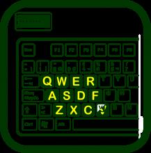 Icono de pegatinas de teclado