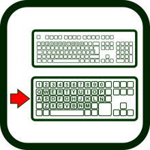 Big keys keyboard icon
