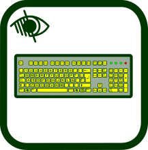 Keyboard icon of high contrast