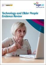 Imagen de la portada de Technology and Older People Evidence Review