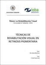 Imagen de la portada de Técnicas de rehabilitación visual en retinosis pigmentaria