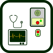 Socio-health equipment icon