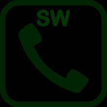 Icono de software de comunicación