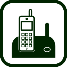 Cordless telephone icon
