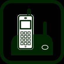 Icono de teléfono inalámbrico