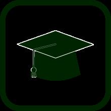 Icono de entrenamiento/aprendizaje