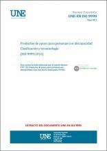 Imagen de la portada del documento UNE-EN ISO 9999:2017