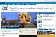 Imagen de la página principal de la Unesco