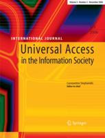 Imagen de la portada Universal Access in the Information Society