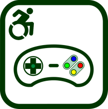Accessible video game icon