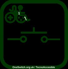 Icono de videojuego accesible por pulsador