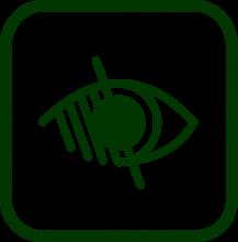 Icono de diversidad funcional visual