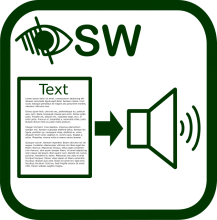 Icono de lector de textos