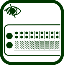 Icono de línea braille