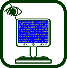 Video magnifier icon