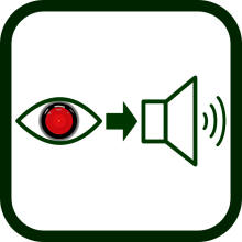 Artificial vision to audio icon