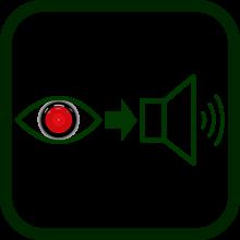 Icono de visión artificial a audio