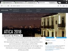 Imagen de la página web del congreso