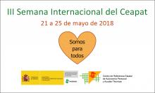 """Báner de la """"III Semana Internacional del Ceapat"""""""