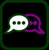 Icono de mensajería instantánea
