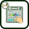 Touchscreen communicator's icon