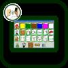 Icono de canalizador dactilar para comunicadores