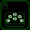 Icono de ratón de botones