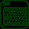 Icono de canalizador dactilar para teclados