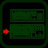 Icono de teclado de teclas grandes