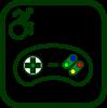 Icono de videojuego accesible