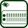 Refreshable braille display icon
