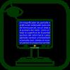 Icono de lupa electrónica